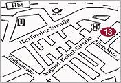 Bielefeld Rechtsanwaltskanzlei Alpers Anfahrtskizze
